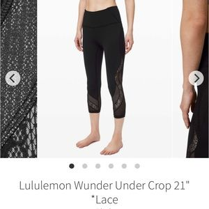"Wunder under lace crop 21"""
